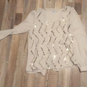 Charming Charlie cream blouse